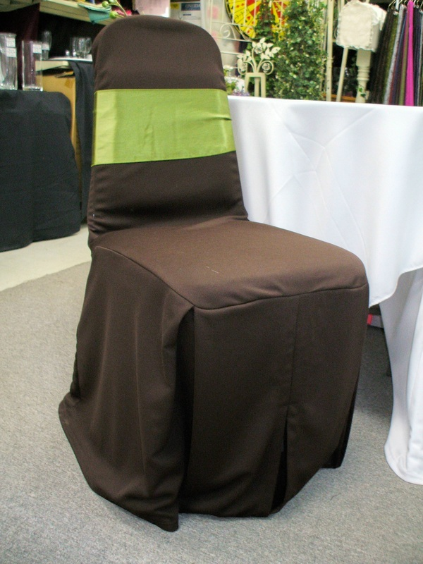 Scuba Knit Chair cover - Choc Brown
