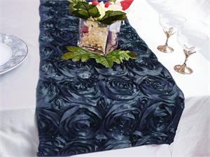 Navy Blue Rosette Table Runner
